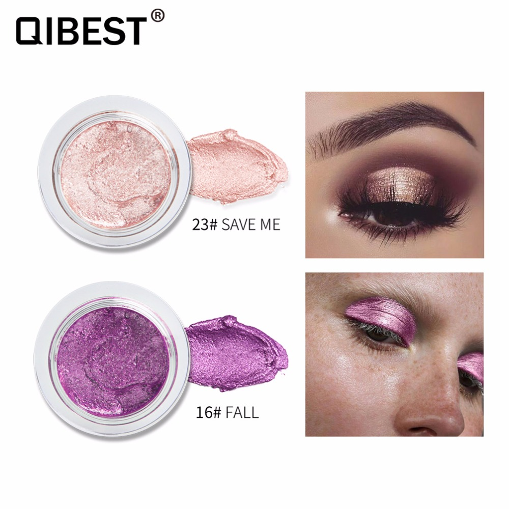 Aigomc Metallic Eyeshadow Cream Waterproof Long Lasting Gold Blue White Shimmer Eyeshadow Highlighter Smoky Eyeshadow Hf086 Beauty & Health