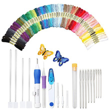 Magic Embroidery Pen Stitching Punch Needle Set Craft Knitting Sewing Tool For Threaders  WXV Sale