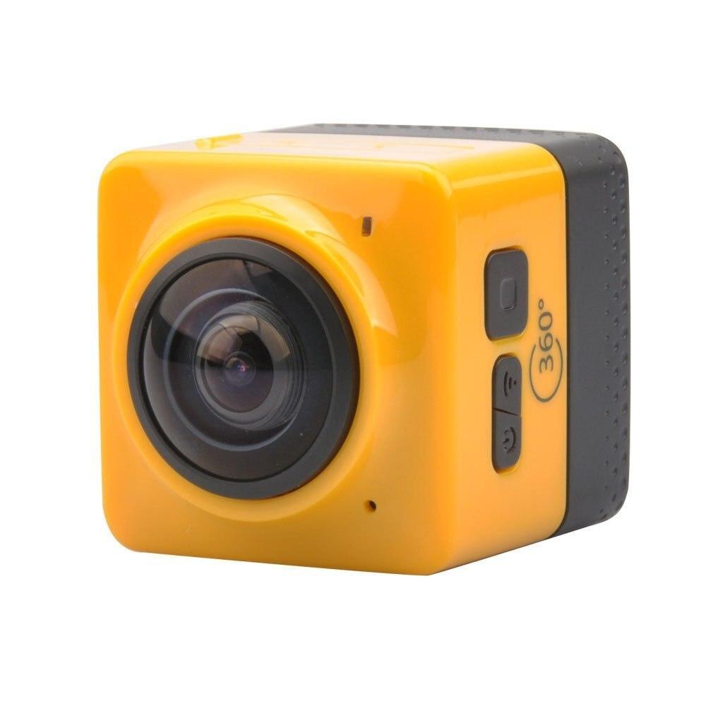 360 enregistreur de came de sport de caméra d'action d'angle de Wifi avec le jaune Standard d'interface de vis de 1/4