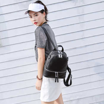 AODUX 2020 New 4 Colors 100% Genuine Leather Women\'s Travel Backpack Bags First Layer Cowhide Girl Bag Female Rucksack Mochila