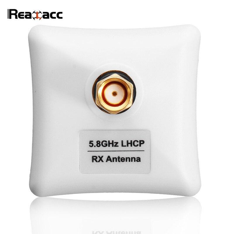 Realacc 5,8g 8dBi LHCP/RHCP Omni-direccional FPV Panel plateado antena plana SMA/RP-SMA para RC Goggles transmisor modelos FPV