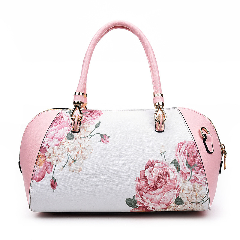 Bolsas Femininas Women Fashion Handbags Flower Printed PU Leather Ladies Shoulder Bag Female Sac A Main Messenger Bags For Women handbags women trapeze bolsas femininas sac lovely monkey pendant star sequins embroidery pearls bags pink black shoulder bag