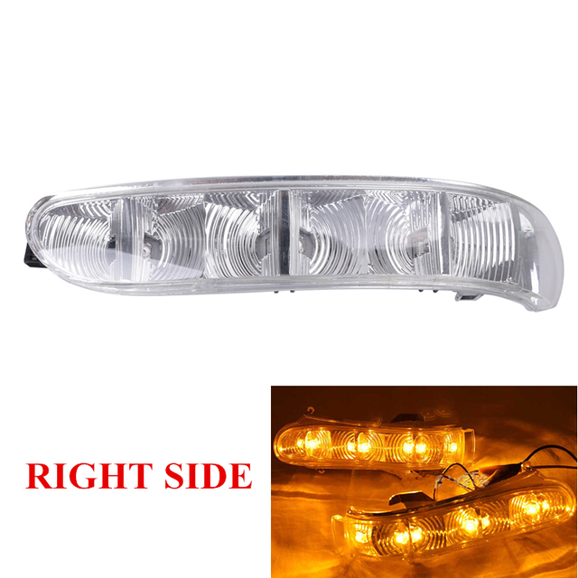 Right Side Door Mirror Light Turn Signal Light LED Lamp For Mercedes Benz MB W215 W220 OEM 2208200621 #W091-R