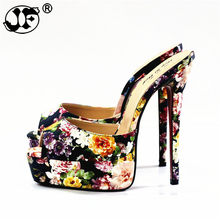 35aecba03a 2019 flip flops:44 45 46 47 48 Summer women wedding shoes 14cm thin high