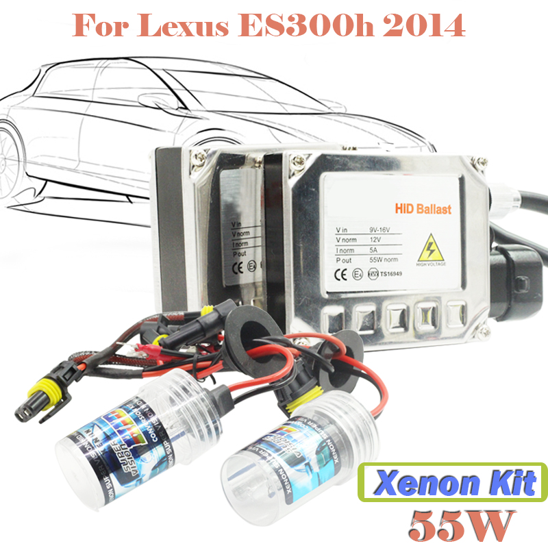 55W Conversion Xenon HID Kit Bulb Ballast 3000K-15000K Car Head Lamp Headlight For ES300h 2014 Free Shipping !  55w xenon hid kit aluminum shell ballast bulb 3000k 15000k car conversion headlight head light for is250 2006 2013
