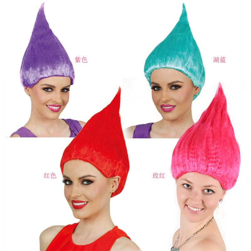 20pcs Trolls Poppy Wig For Kids 36cm Wig Children Cosplay Party Supplies Trolls Wig 8 Colors