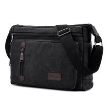 цена на Vintage Men's Messenger Bags Canvas Shoulder Bag Fashion Man Women Crossbody Bag Fashion Male Travel Handbag