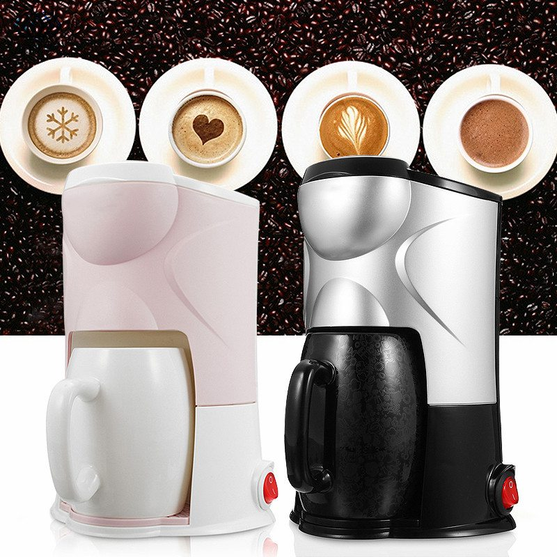 220V Coffee Maker Drip Type Semi-automatic Machine Cafe Americano Espresso Cafe Household Cappuccino Latte Maker 300W