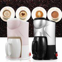 220V Coffee Maker Drip Type Semi automatic Machine Cafe Americano Espresso Cafe Household Cappuccino Latte Maker 300W