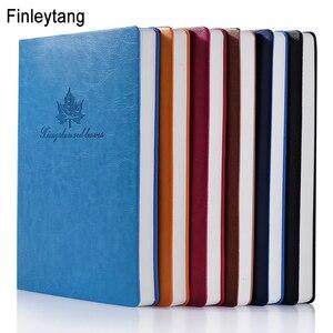 Простой блокнот с листьями A5, кожаный бизнес-блокнот, дневник, шесть цветов, опциональный узор, школьная стационарная офисная книга