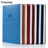 Simple Leaves Notebook A5 Leather Business Notepad Diary Six Color Optional Pattern Customization School Stationary Office