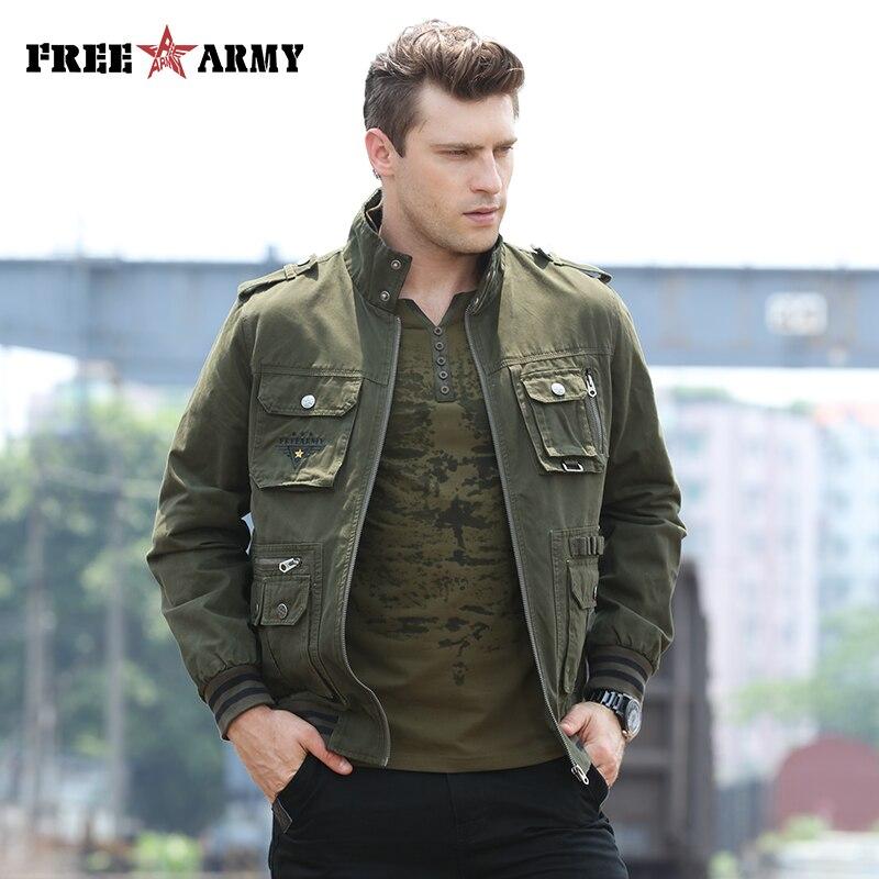 FREEARMY Márka minőségi kabát férfi katonai dzseki szélálló hadsereg repülés szél leállító szél bombázó kabát férfi Ms-6280A