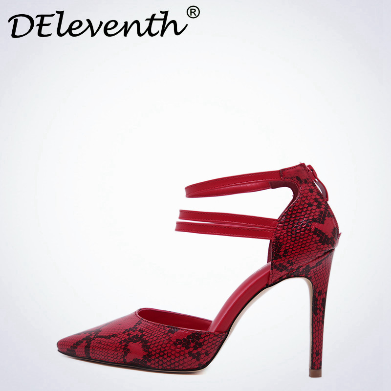 DEleventh Sexy women shoes 2017 Serpentine Zipper Pointed Toe Shoes Pumps High Heels wedding Party shoes bride Ladies shoes Red siketu 2017 free shipping spring and autumn women shoes fashion sex high heels shoes red wedding shoes pumps g107