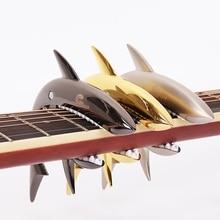 цена на Acoustic Electric Guitar Shark Capo for Acoustic Electric classical Guitar Zinc Alloy Musical Instrument Guitar Accessories