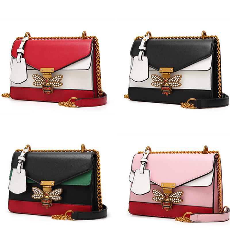 Splicing Little Bee Bags Lady Clutches 5