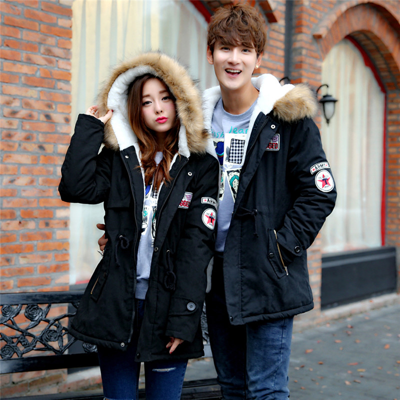 ФОТО Free shipping 2016 autumn and winter explosion models men Korean version of Slim Long warm hooded coat Plus Size