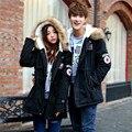 O envio gratuito de 2016 outono e inverno modelos explosão dos homens versão Coreana de Slim Longo casaco quente com capuz Plus Size