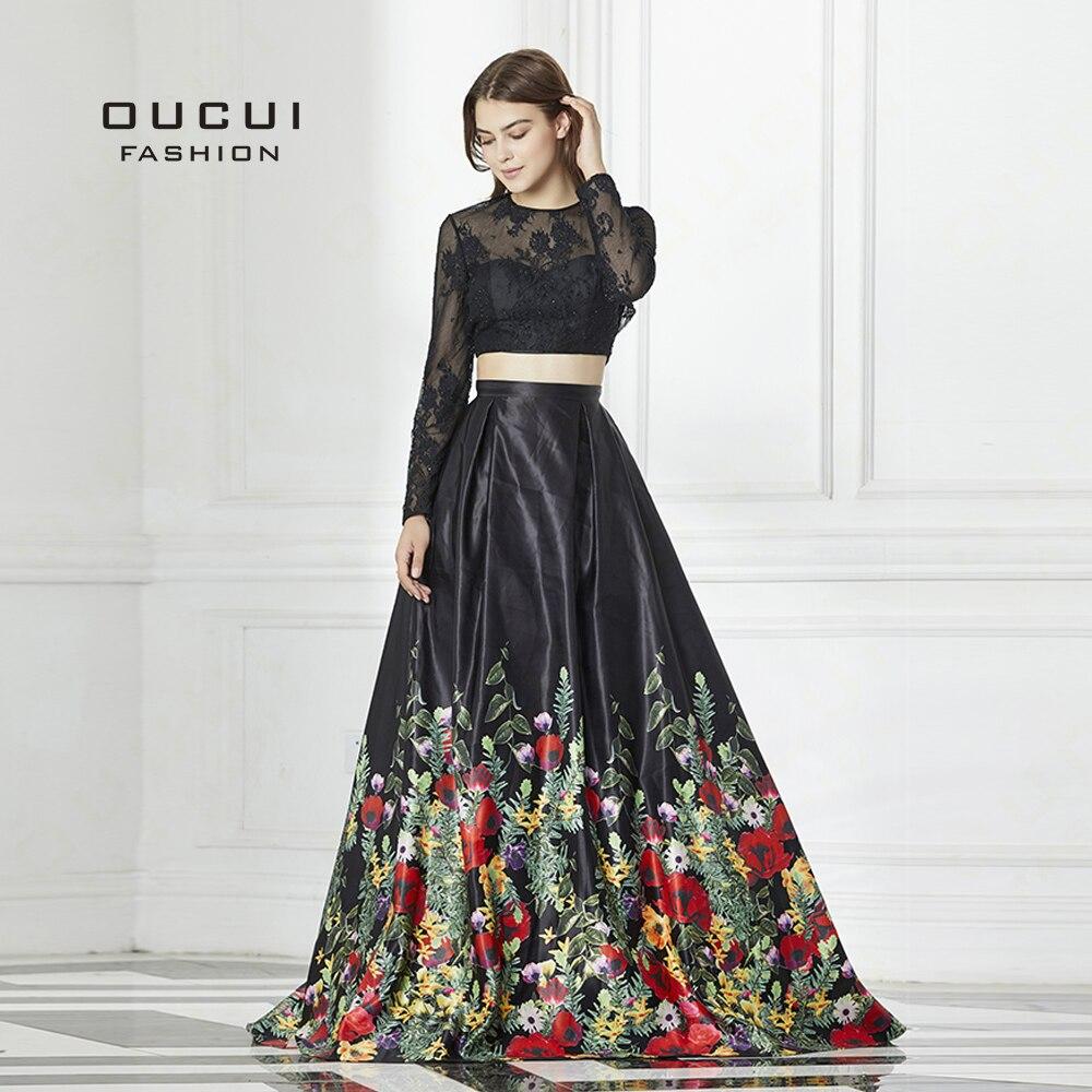 ba2bb7e689a53 top 10 long sleeve flower 2 piece prom dress ideas and get free ...