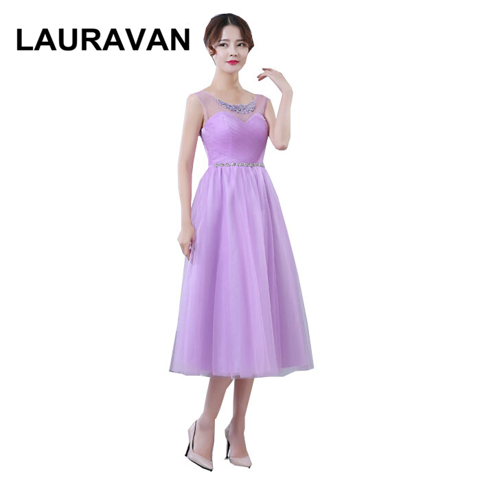 lady girl size 8 formal elegant simple short lavender light purple champagne sexy tea vestidos   bridesmaid     dresses   s   dress