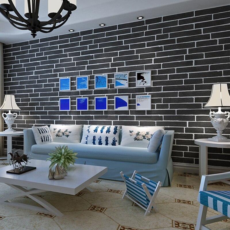 US $28.05 15% OFF|PAYSOTA Geprägte 3D Mauer Papier Moderne Vintage Ziegel  Stein Muster Papier Tapetenbahn Wohnzimmer Wandverkleidung Decor-in Tapeten  ...