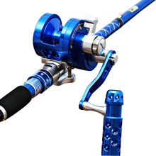 Hu Ying Full Metallic Jigging Reel Single Speeds Trolling Fishing Reel 30kgs Energy Drag Deep Sea Saltwater Boat Reel 4.5:1
