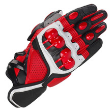 Red Knight Leather carbon fiber warm motorcycle racing A gloves off-road shatter-resistant gloves riding gloves