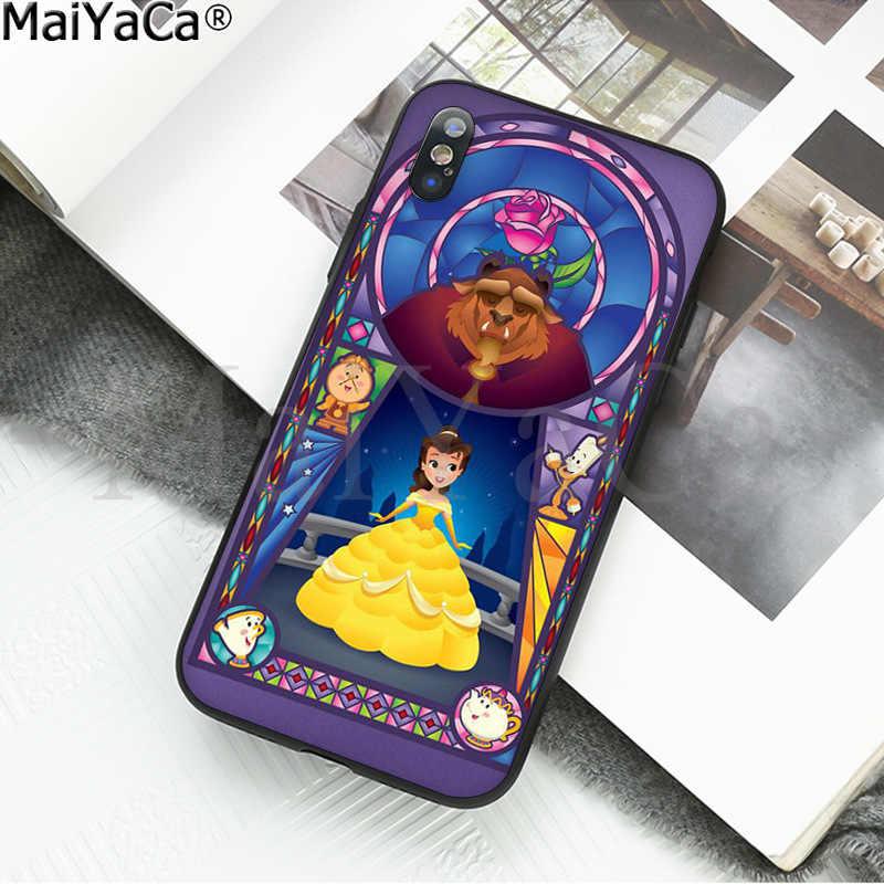 MaiYaCa Beauty และ Beast Soft ซิลิโคน TPU ฝาครอบโทรศัพท์สำหรับ Apple iPhone 8 7 6 6S Plus X XS MAX 5 5S SE XR มือถือ