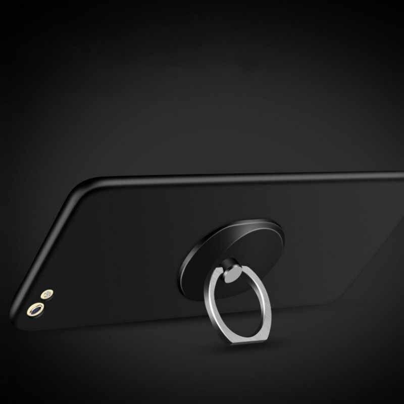 Genel Telefon parmak yüzük tutucu 360 Derece standı Samsung Xiaomi için iPhone X 7 6 55 5 S artı akıllı telefon tablet düz bague