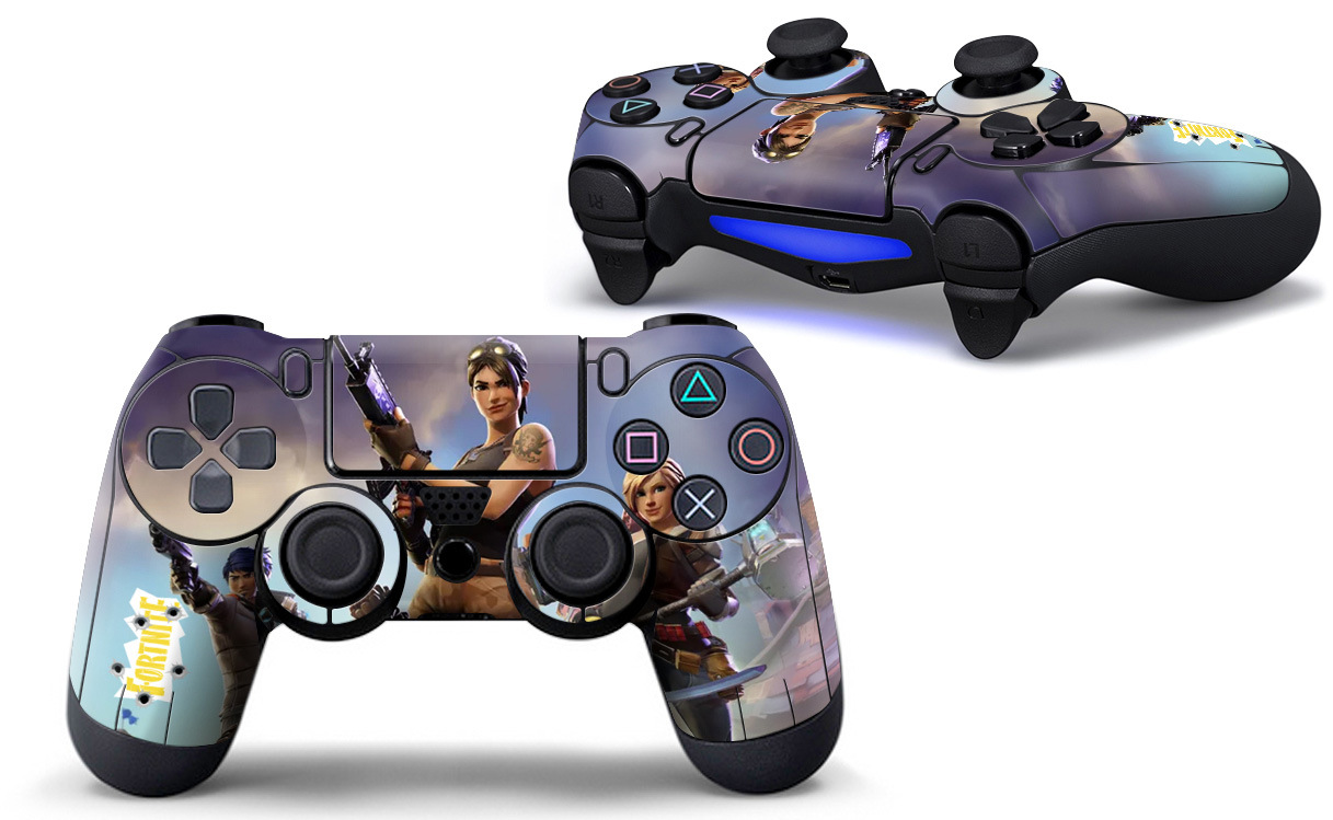 1pcs Game Fortnite Battle Royale Skin Sticker Decal For PS4 PS4 Slim PS4 PRO Controllers Stickers Vinyl Sticker