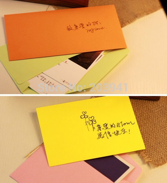 50pcs/lot Vintage Candy Color Series DIY Multifunction Wedding Party Invitation Envelope Greeting Cards Gift Envelope