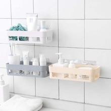 Punch-free Wall Hanging Bathroom Shelf Adhesive Storage Rack Corner Shower Kitchen Home Decoration Accessories