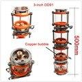 2018 NOVA bolha de cobre coluna de Destilação com seções para 3 4