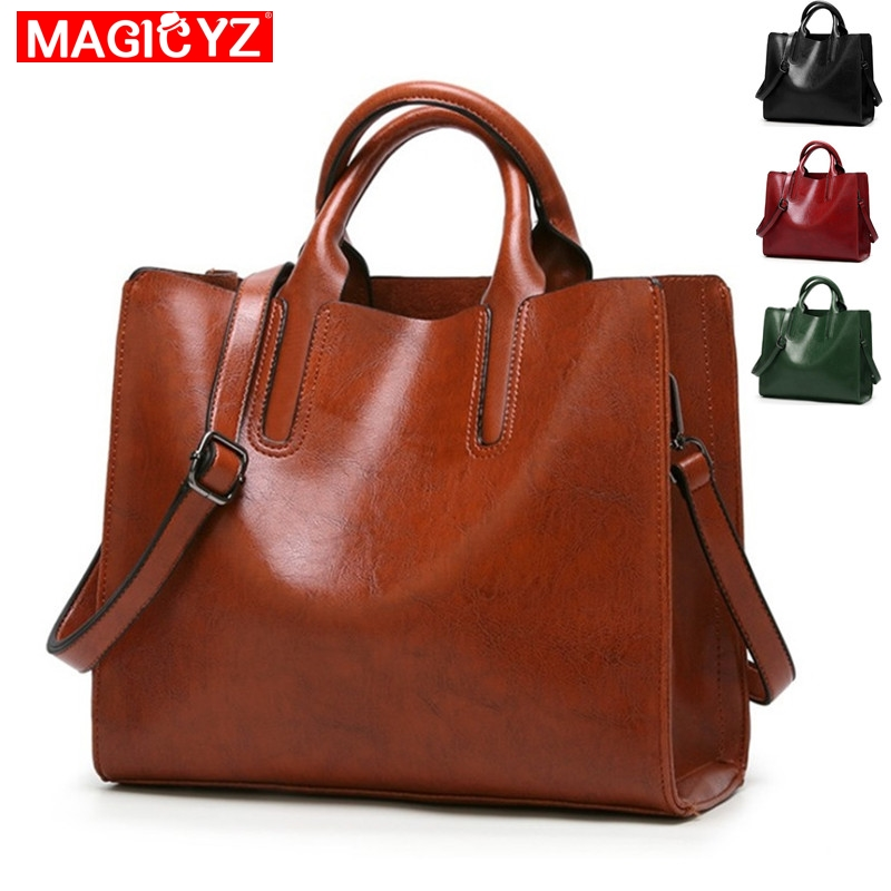 2eaa22898f0e3 Frauen Leder Handtaschen Großen Tasche Hohe Qualität Casual Weibliche  Taschen Stamm Tote Spanisch Marke Schulter Tasche Damen Große Bolsos