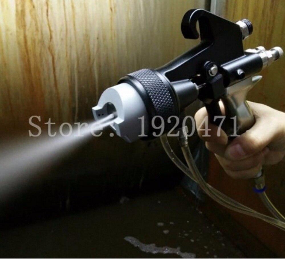 Two Head Chrome Spray Gun Dual Nozzle Silvering Polyurethane Foaming Mirror Chrome Paint Nano-in Spray Guns from Tools    1