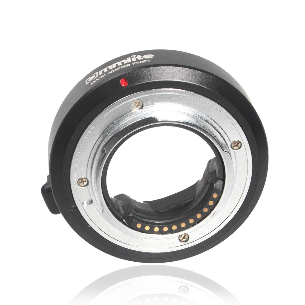 Commlite Electronic Auto Focus Lens Mount Adapter for Olympus OM 4/3 Lens to Micro 4/3 M4/3 Camera GH4 GH5 GF6 GX7 EM5 EM1 OM-D image