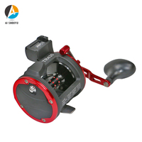 New Trolling Fishing Reel Right Hand Fishing Cast Drum Reel with Digital Counter 3+1BB Saltwater Reels Magnetic Break System