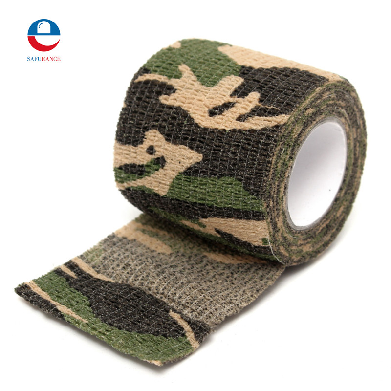 Safurance 1Pcs Anti-slip Non-Woven Self-Adhesive Elastic Bandage Camouflage Color Sports Tape For First Aid Kits Accessorie цена