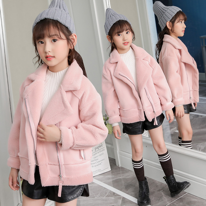 Image 5 - New   Girls Coats And Jackets  Suede Fleece  Kids Coats Fashion 4 10 Old Size  Autumn Winter 9GT018-in Jackets & Coats from Mother & Kids