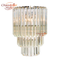 Modern Glass Prism Wall Sconce Lamp Light Lighting Fixture for Home Living and Dining Room Home Hotel Restaurant Decoration