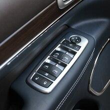 ABS Chrome для Jeep Grand Cherokee 2014-2017 двери, окна стеклянный лифт Управление переключатель Панель крышка планки стайлинга автомобилей аксессуары