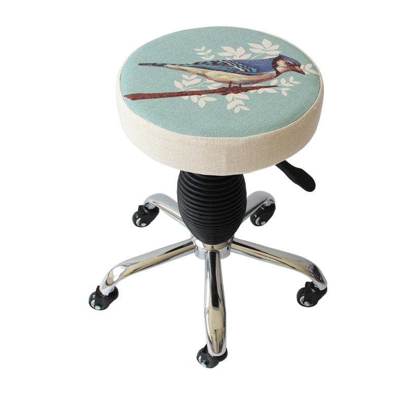 Multifunction Beauty Salon Stool Makeup/Manicure/Haircut Seat Slidable SPA Stool Lifted And Rotation Chair Without Backrest