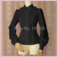 Ladies Victorian Lolita Women Cos Anime Cosplay Costum Uniforms Gothic Palace Princess Peter Pan Ruffles Shirt