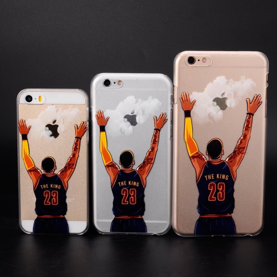 for iphone 5 5s se 6 6s 7 plus NBA basketball star phone cases hard shell Lebron james harden Jordan Stephen Curry Kobe cover