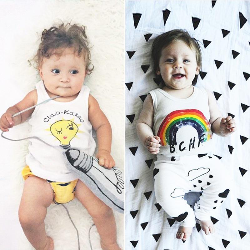 Lato Baby Tank Top Bunny Koszulki bez rękawów Lato Newborn Kids T - Odzież dla niemowląt - Zdjęcie 3