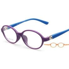 Детские оправы, оптические очки, круглые очки для детей, для мальчиков и девочек, линзы по рецепту Oculos Infantil TR 8801