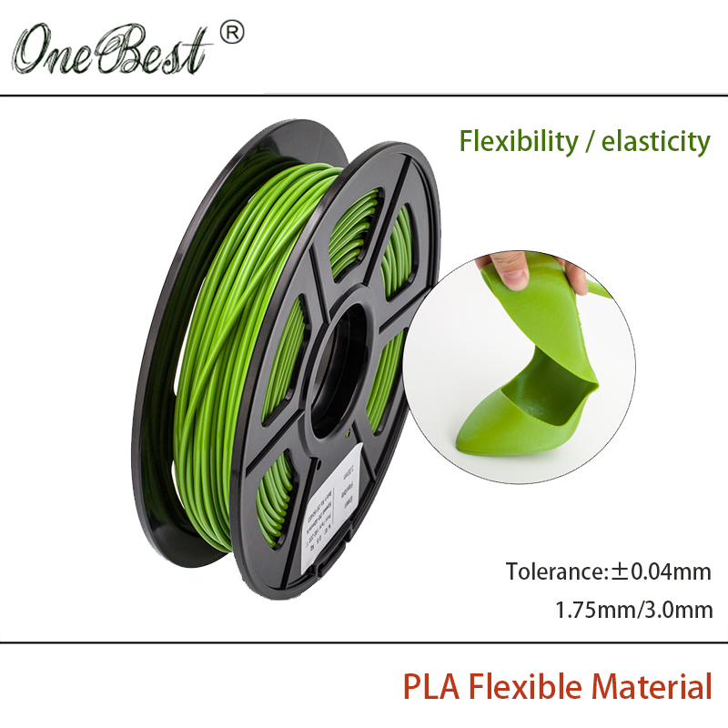 2016 Free shipping High quality  PLA Flexible Material 1.75mm 3.0mm 3D printer elasticity supplies for DIY 3D printing Materials flsun 3d printer big pulley kossel 3d printer with one roll filament sd card fast shipping