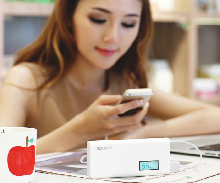 ROMOSS Sense 4 Sense4 Plus Dual USB Display Power Bank 18650 Powerbank Portable Charger 13