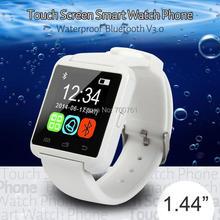 2PCS 1.44 inch Touch Screen Waterproof bluetooth Smart Watch U8 Smartwatch  For Apple iPhone 4 5S 6 Plus Samsung Huawei Xiaomi