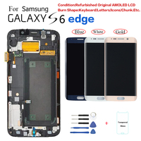 For Samsung S6 edge G925F G9250 Display LCD Screen replacement For Samsung G925FD G925T G925 display screen Burn in Shadow
