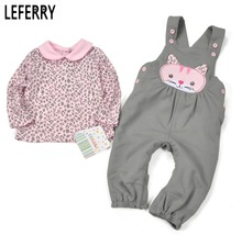 Baby Girl Clothes Sets Baby Girl Clothing Infant Newborn Baby Kleding Kids Clothes 2016 New Autumn T shirt + Overalls Cotton 2017 autumn new born baby girls clothing sets infant long sleeved letter cotton t shirt